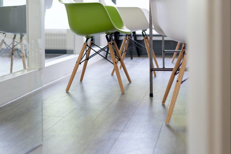 Meeting Room Chairs on Hardwood Floor