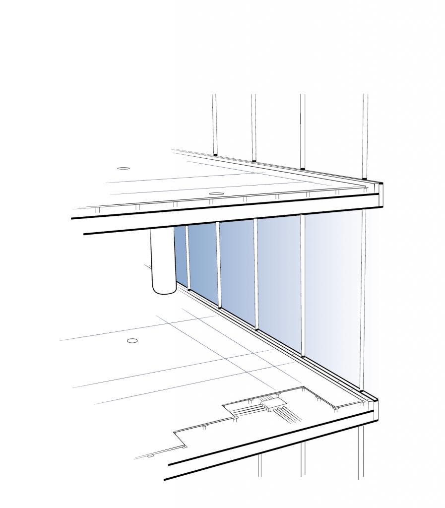 Sketch of Raised Access Flooring on Multiple Storeys